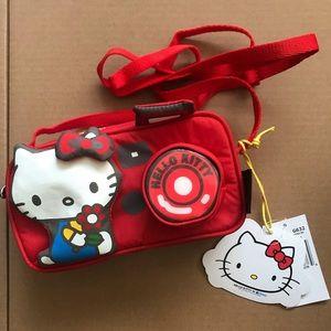 Hello kitty x lesportsac red camera bag crossbody